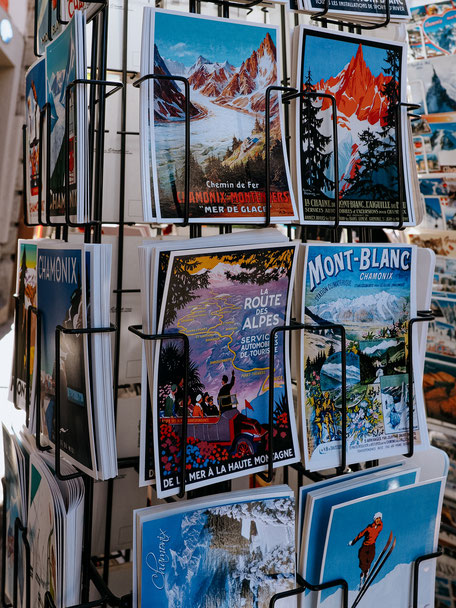 Postcards, Chamonix (French Alps, Alpes françaises)
