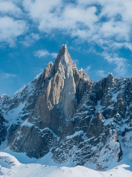 Aiguille du Dru, Montenvers Train, Mer de Glace, Chamonix (French Alps, Alpes françaises)