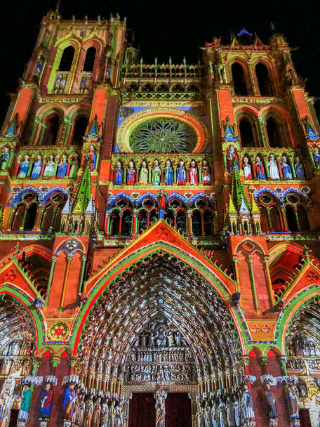 Chroma, Cathédrale d'Amiens, Picardie, Light show, Cathedral of Amiens