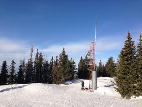 Same field site buried under 10 feet of snow!