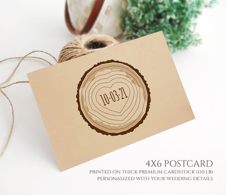 Forest Save the Date Postcards