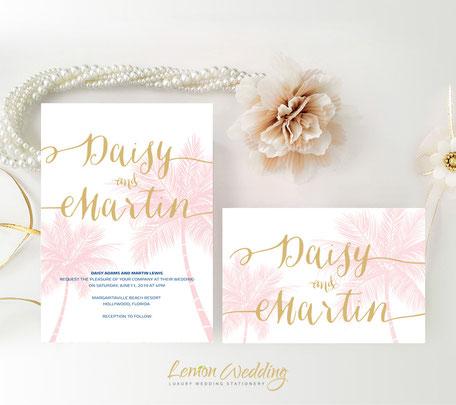 Tripical wedding invitations