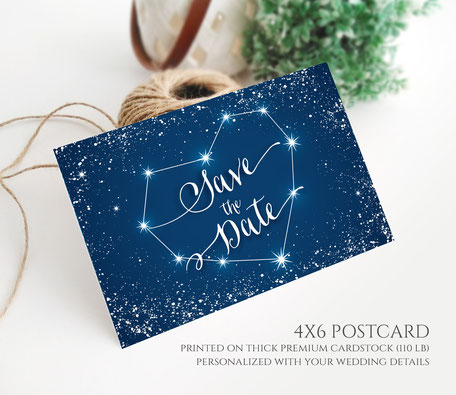 Stearry Night Save the Date Postcards