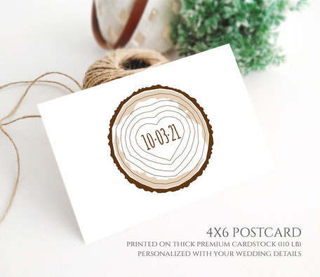 Save the Date Rustic Postcards