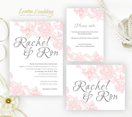 lace wedding invitation sets