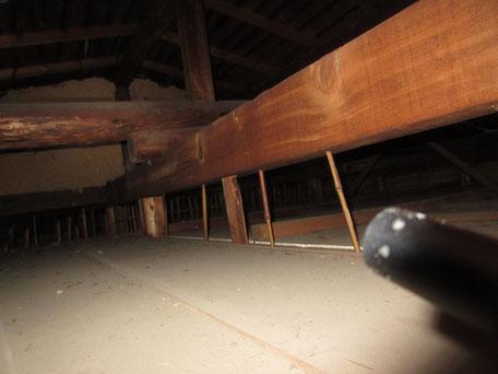 小屋裏部調査の参考写真