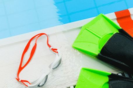 Hallen Schwimmbad Taucherbrille Schwimmflossen