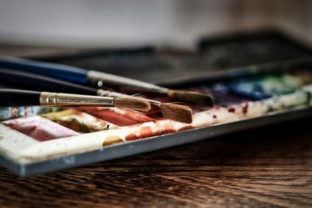 Malen bei Regen mit Aquarell-Stiften