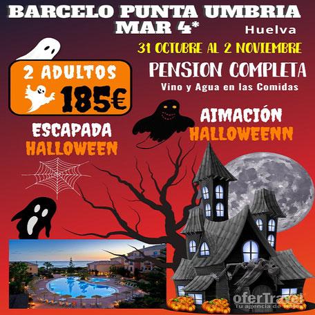 El Hotel Barceló Punta Umbría, situado a la entrada del pueblo pesquero del mismo nombre, y ubicado en plena Costa de la Luz,