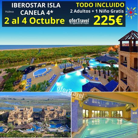 El hotel IBEROSTAR Isla Canela es un completo resort en primera línea de Playa Canela, en Punta del Moral.