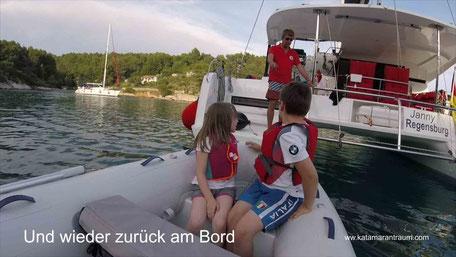 Bord, Charter, Charter Kanaren, Segelreisen Kroatien, Segelurlaub, Segelurlaub Kanaren, Segelurlaub Kroatien, Katamarantraining, Katamaran Lagoon 42, Lagoon 42, Segelurlaub, Spaß