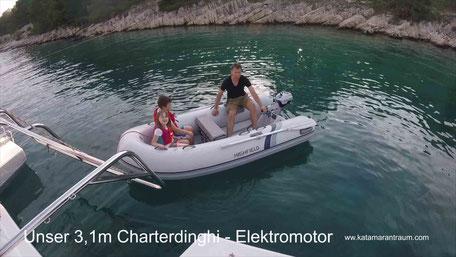 Dinghi, Charter, Yachtcharter Kroatien, Charter Kroatien, Segelurlaub, Skipper, Kapitän, Segelurlaub Kroatien, Katamaran Lagoon 42, Segelreise, Segelreise Kanaren, Segelreise Kroatien, Segelurlaub, Segelurlaub Kroatien