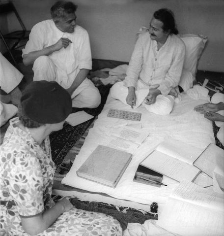 Ramjoo with Baba and Elizabeth Patterson ( wearing beret ).