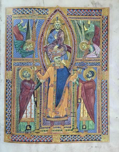 Sakramentar Heinrichs II., Krönungsbild
