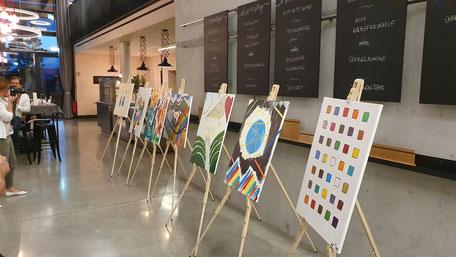 Kreatives Team Art von bo events, Team Painting, Teamkunst im Rhein-Main-Neckar Gebiet