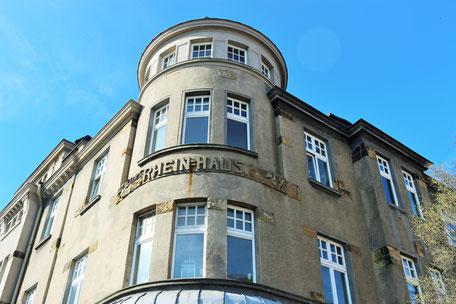 Bild: Kulturhafen Heerdt am Rheinufer in Düsseldorf Heerdt, eine Initiative von der Stiftung für Heerdt von Anja und Andreas Bahners; Foto und Copyright: Stephanie Vennemann
