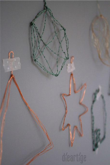 dieartigeBLOG - DIY Drahtanhänger 'Gebaumsel'