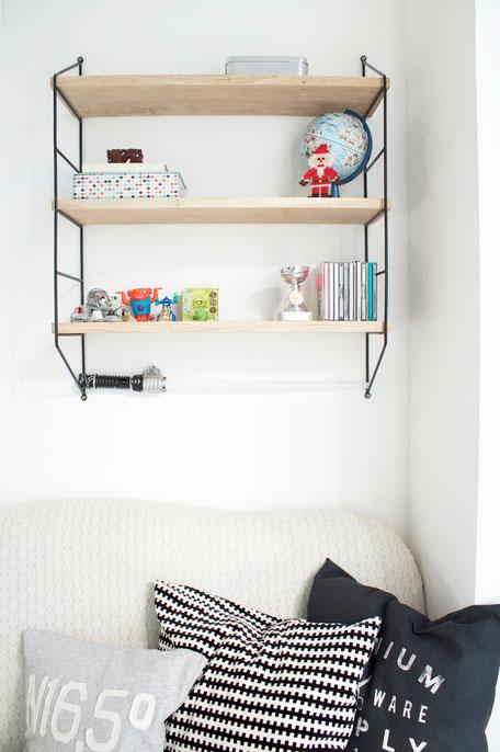 dieartigeBLOG - Kinderzimmer Upgrade | String-Regal mit Eichenböden