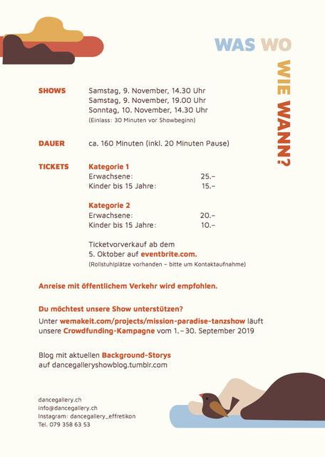 Mission Paradise Tanzshow Tanzschule Dance Gallery Effretikon Zürich Oberland Winterthur Schüleraufführung