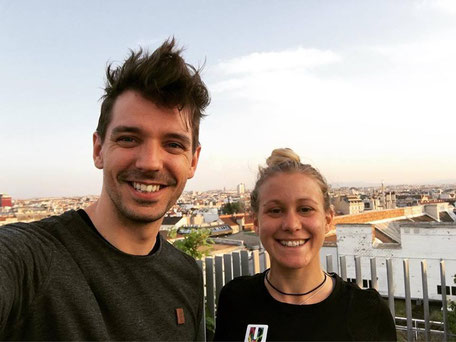 Julia Mayer Benjamin Rauscher Privat Trainer Personal Trainer Mariott Vienna Dachterrasse Krafttraining
