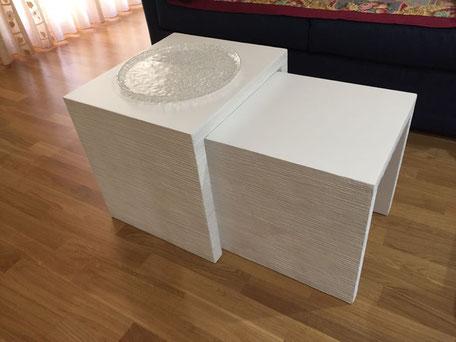 tavolino salotto bianco, tavolino living moderno