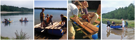 Floßbau, floß bauen, leipzig, spielend erleben