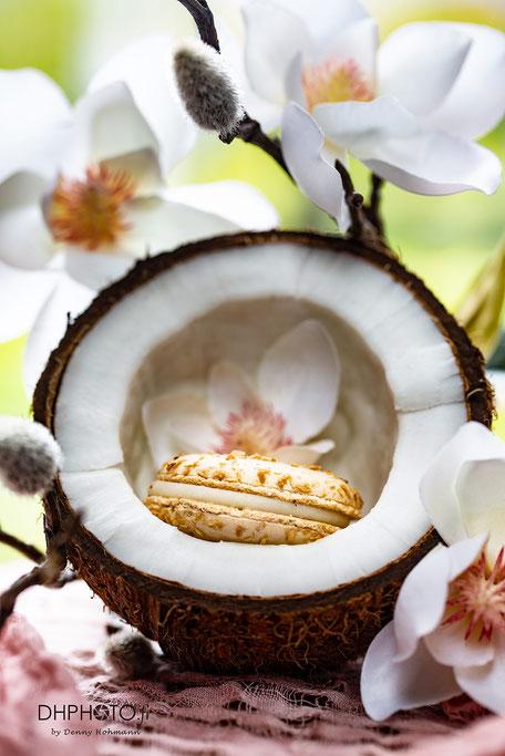 Photo culinaire de Macaron noix de coco de chez Julien Lambert
