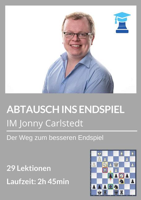 Abtausch ins Endspiel, chessemy Kurs, IM Jonny Carlstedt