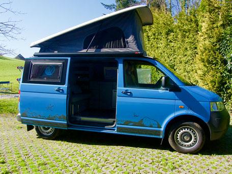 VW Bus, VW T5, Camper Mieten, VW Bus Mieten, Graf Exploring