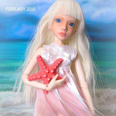 пастель, игрушки, шарнирная кукла, Нора, BJD, море
