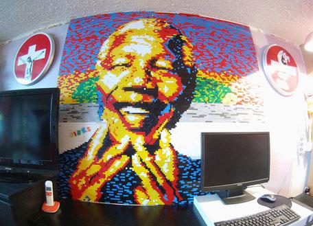 Nelson Mandela réalisé avec des Legos