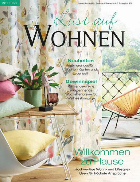 Wohnzeitschrift Lust auf Wohnen Gardinen