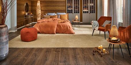 Designboden und Teppich von Joka