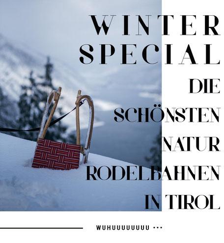 die schönsten Naturrodelbahnen in Tirol - ein Winter in Tirol abseits des Touristenrummels #mountainhideaways