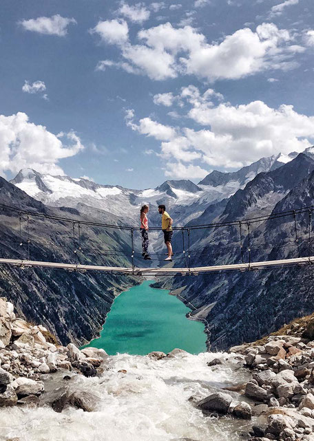 #fotomotiv #fotospot #hängebrücke #zillertal #tirol #schlegeis