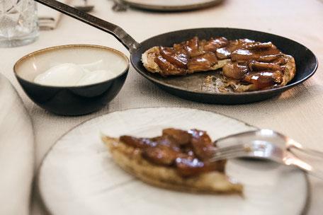 Tarte Tatin - Restauranttipp: Wirtshaus zur blauen Traube, Algund-Lagundo bei Meran