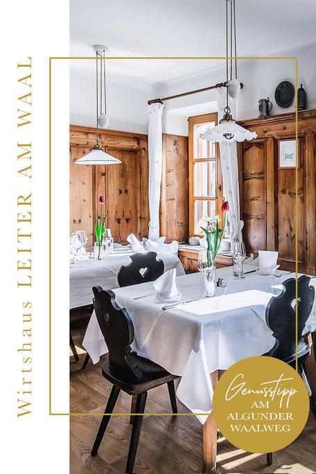 Restaurantguide für ALGUND/MERAN (Algunder Waalweg) - Wirtshaus Leiter am Waal - Algund-Lagundo