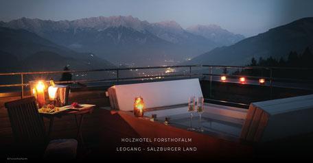 Holzhotel Forsthofalm (Wellnesshotel, Berghotel, Aktivhotel, Yoga, Leogang, Saalfelden, Salzburg)