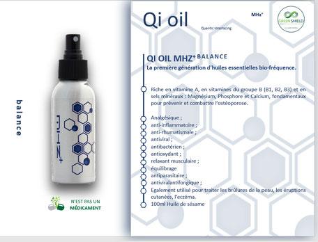 Huile Bio-fréquence QI Oil  Balance
