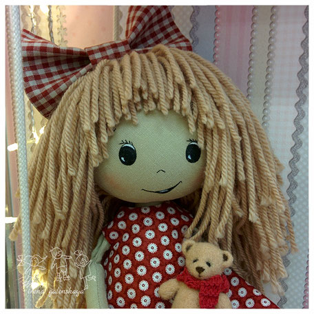 текстильная кукла Женечка