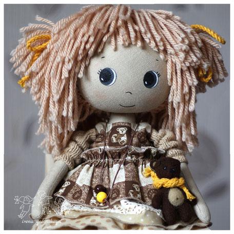 текстильная кукла Розали