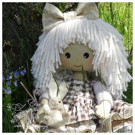 текстильная кукла Леночка