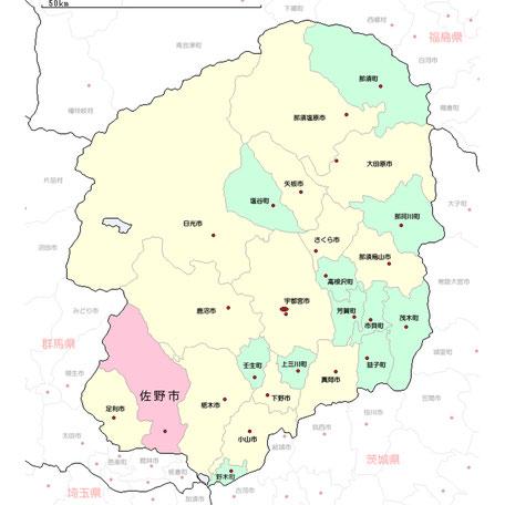 栃木県佐野市地図