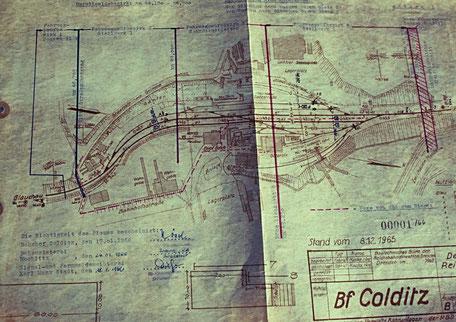 Gleisplan Bf Colditz 1965