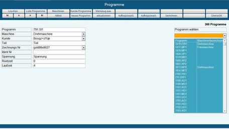 Programme, maschinenprogramme Betriebsdatenerfassung