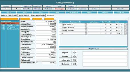 Auftragsbearbeitung Betreibsdatenerfassung