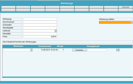 Werkzeugverwaltung Betriebsdatenerfassung