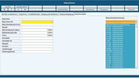 maschinendaten, maschinenzeiten, Betriebsdatenerfassung