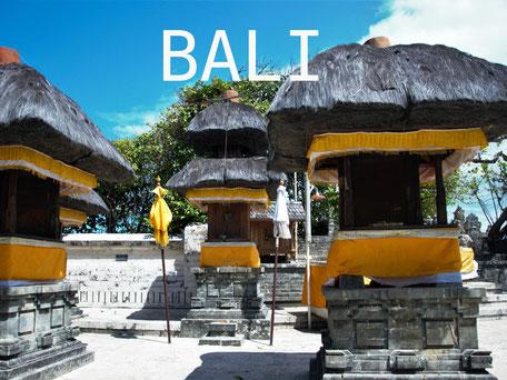 Hindoe tempel bij Uluwatu op de Bukit op Bali