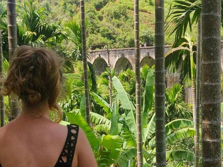 Uitzicht op de Nine arches bridge in Ella